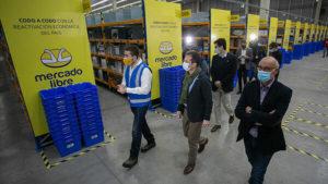 centro de distribución de MercadoLibre en Chile