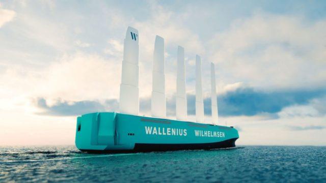 El primer barco Ro-Ro propulsado a viento navegaría desde 2025